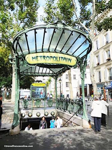 Cultural Metro stations in Paris - Abbesses Art Nouveau entrance in Montmartre
