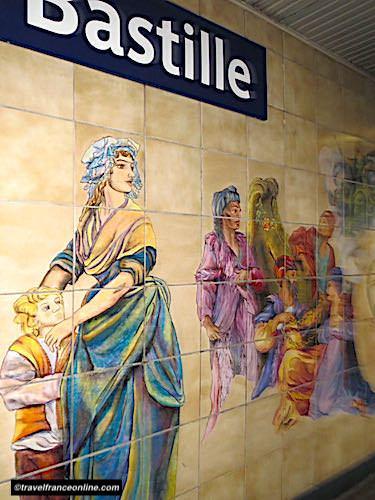 Cultural Metro stations in Paris - Bastille