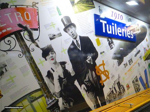 Cultural Metro stations in Paris - Tuileries