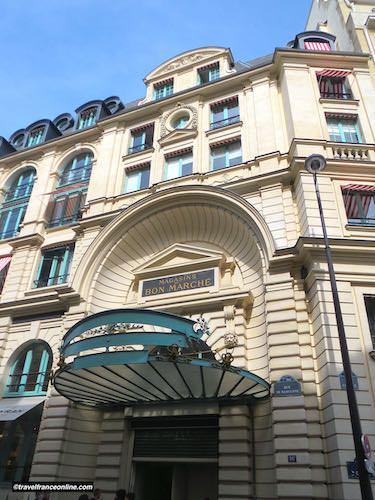 Le Bon Marché Rive Gauche 19th century facade