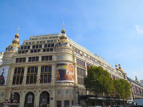 Printemps Haussmann - Paul Sedille's facade on Boulevard Haussmann