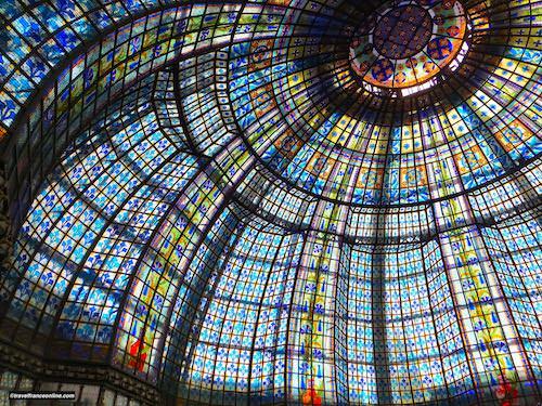 Printemps Haussmann - Cupola by master glass maker Brière