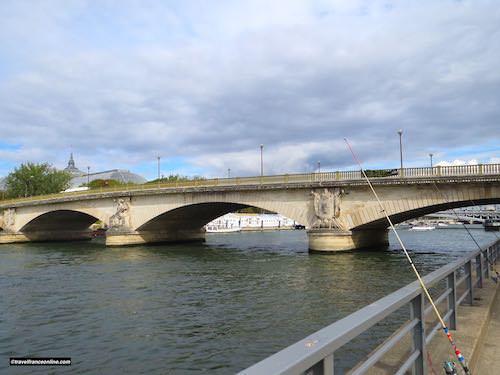 Pont des Invalides downstream side