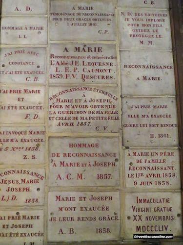 Notre Dame des Victoires Basilica ex-voto