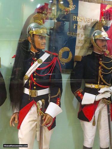 Uniforms in Garde Republicaine Museum