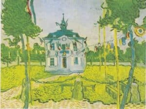 Town-hall of Auvers-sur-Oise by Van Gogh