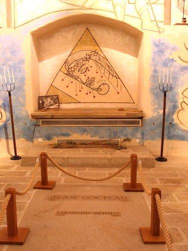 Saint-Blaise-des-Simples Chapel - Grave of Jean Cocteau