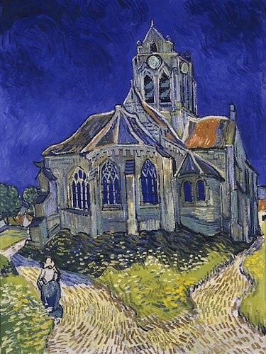 Church of Our-Lady-of-the-Assumption in Auvers-sur-Oise by Van Gogh