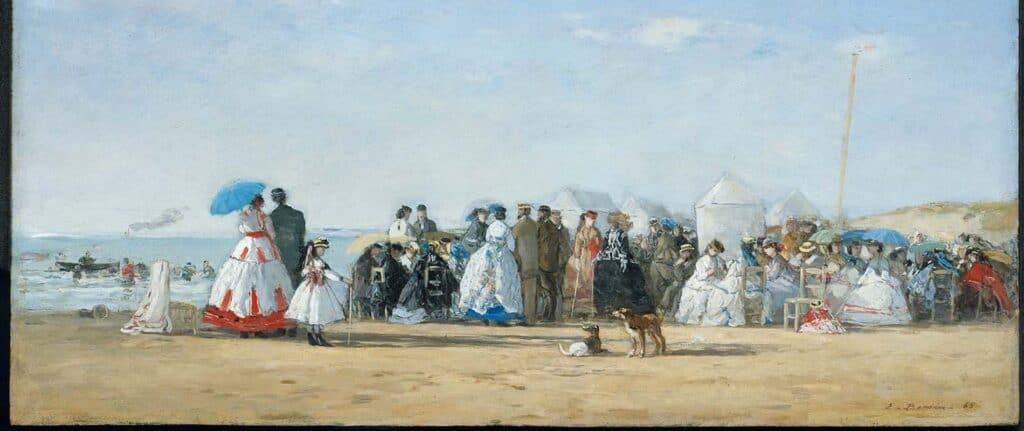 Eugene Boudin - Fashionable figures on the beach