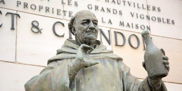Monk Dom Perignon statue