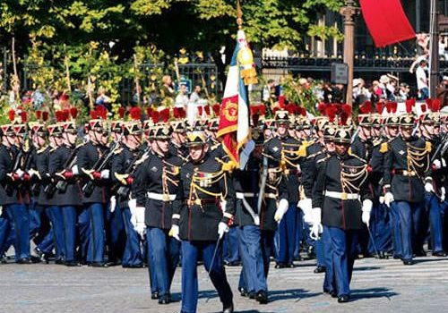 Republican Guards 1st Infantry parade on Bastille Day
