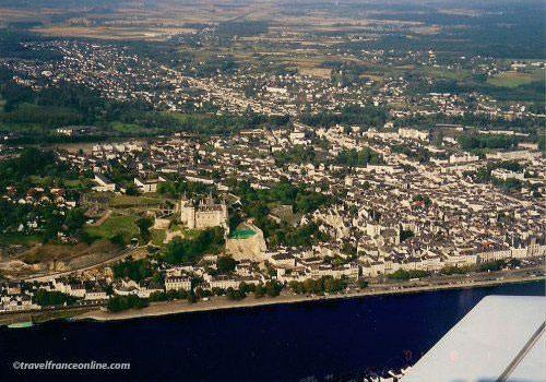 Aerial view of Saumur