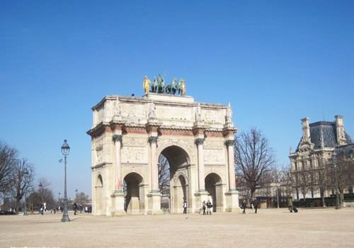 Arc de Triomphe du Carrousel and Pavillon de Marsan