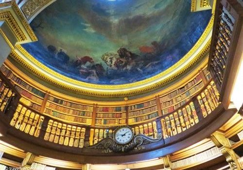 Assemblee Nationale - Library's cupola painted by Delacroix
