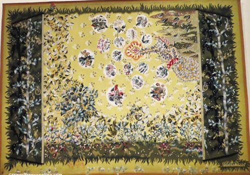 Aubusson Tapestry - Le Printemps by Jean Lurcat - wool - 1946