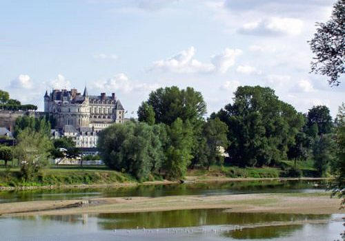 Chateau de Chaumont sur Loire - Fireplace with porcupine emblem