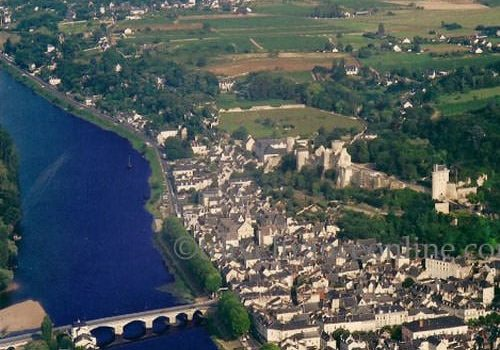 Aerial photo of the Chateau de Chinon
