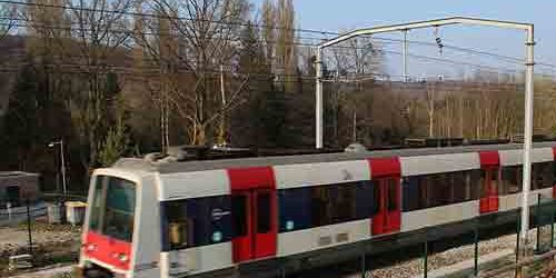Express train RER from Charles de Gaulle Airport to Paris