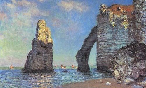 The Impressionists on the Alabaster Coast - The Cliffs at Etretat by Monet