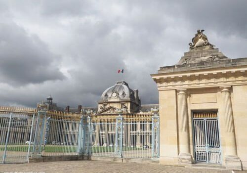 Inside the grounds Ecole Militaire