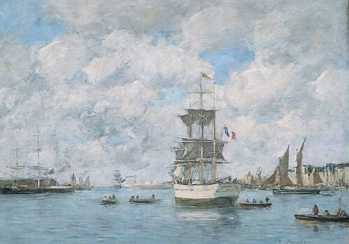 Port of Le Havre by Eugene Boudin
