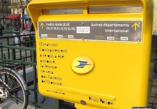 French Post Office letter box in Paris