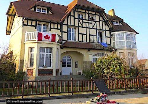 Juno Beach War Memorials in Bernieres-sur-mer - Villa Cassine and Queen's Own Riffles of Canada Memorial