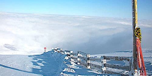 Red Piste Plomb du Cantal in Le Lioran ski resort