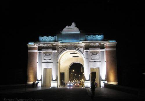 Menin Gate Memorial at nught