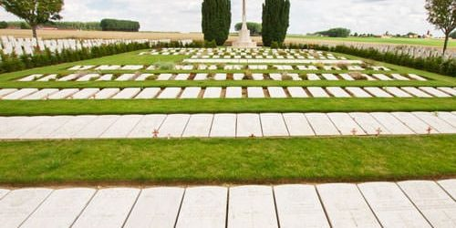 Mill Road Cemetery - flat gravestones