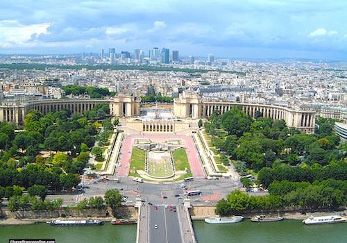 Palais de Chaillot seen from the Eiffel Tower