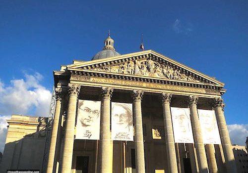Pantheon of Paris main facade