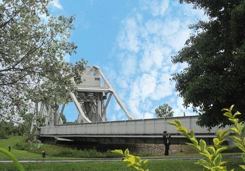 Original Pegasus Bridge in the museum