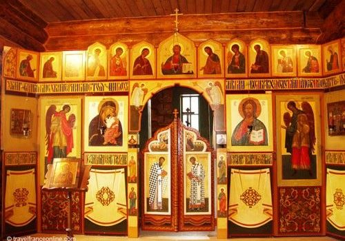Icones in Pessales Russian Orthodox Chapel