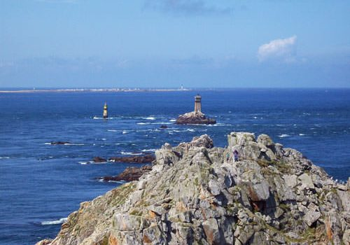 Pointe du Raz and Ile de Sein in the distance