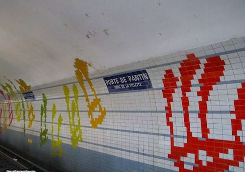 Porte de Pantin Metro station - musical decor