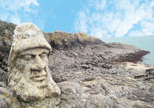 Rotheneuf Carved Rocks - Lucifer
