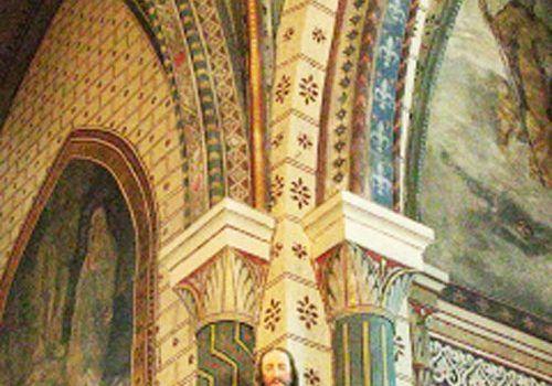 Saint-Cernin-church-restored-frescoes