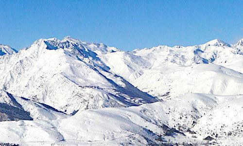Saint-Lary-Soulan ski resort in the French Pyrenees