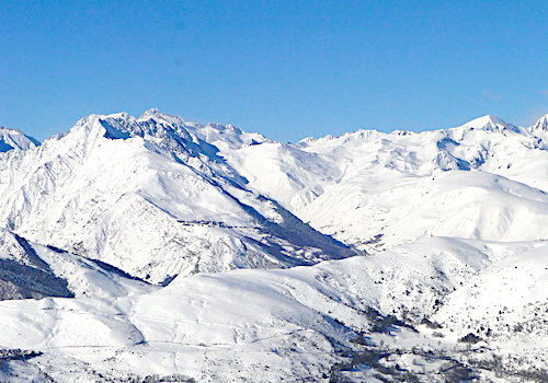 Saint-Lary-Soulan ski resort in the French Pyrenees