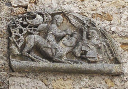 St Pierre Toirac Church - Vestige of Romanesque tympanum