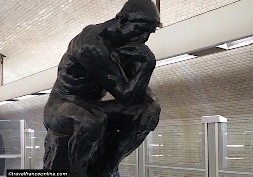 Varenne Metro station - The Thinker by Rodin