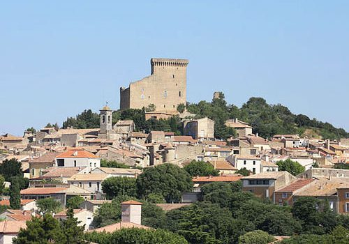 Chateauneuf du Pape village and ruined castle