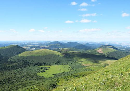 Auvergne extinct volcanoes
