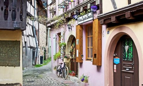 Picturesque lane in Alsace